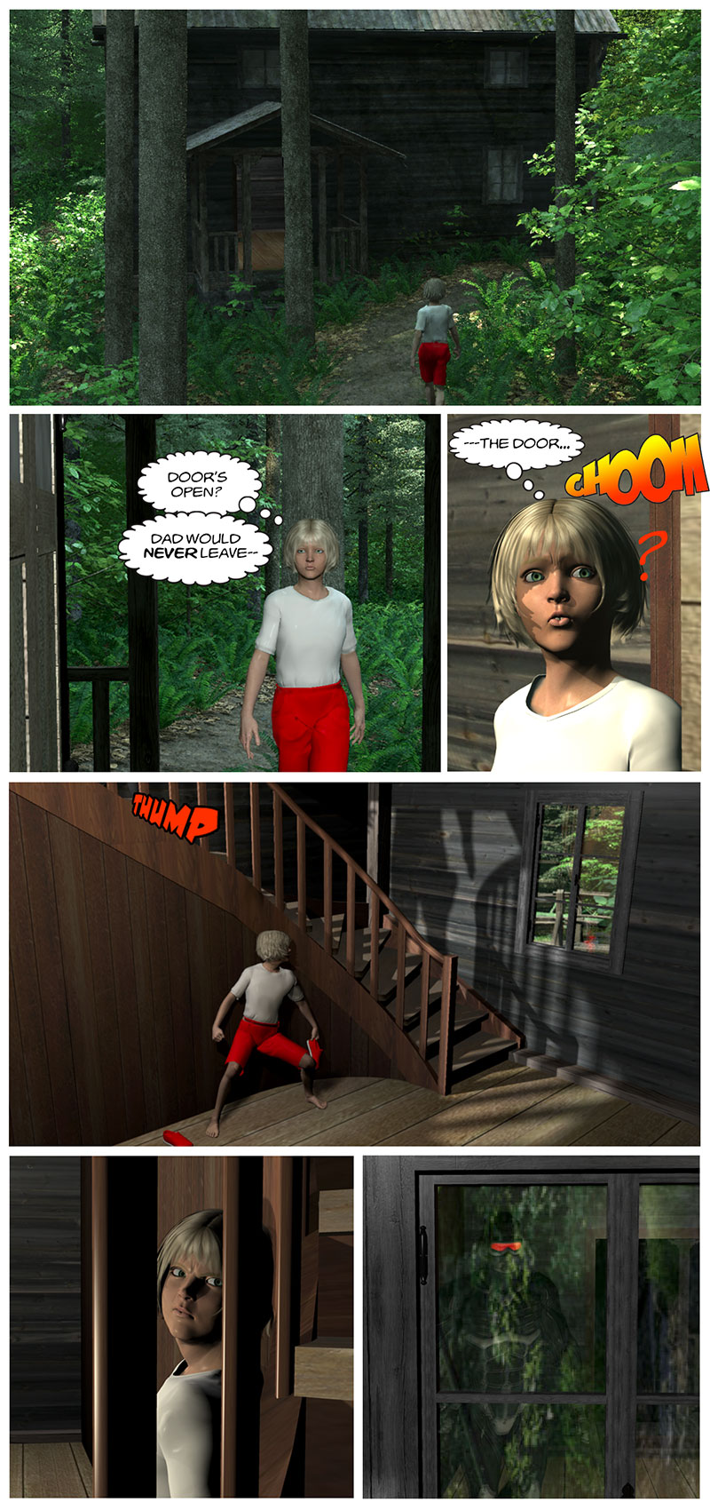 Chapter 1, page 4 – an intruder appears