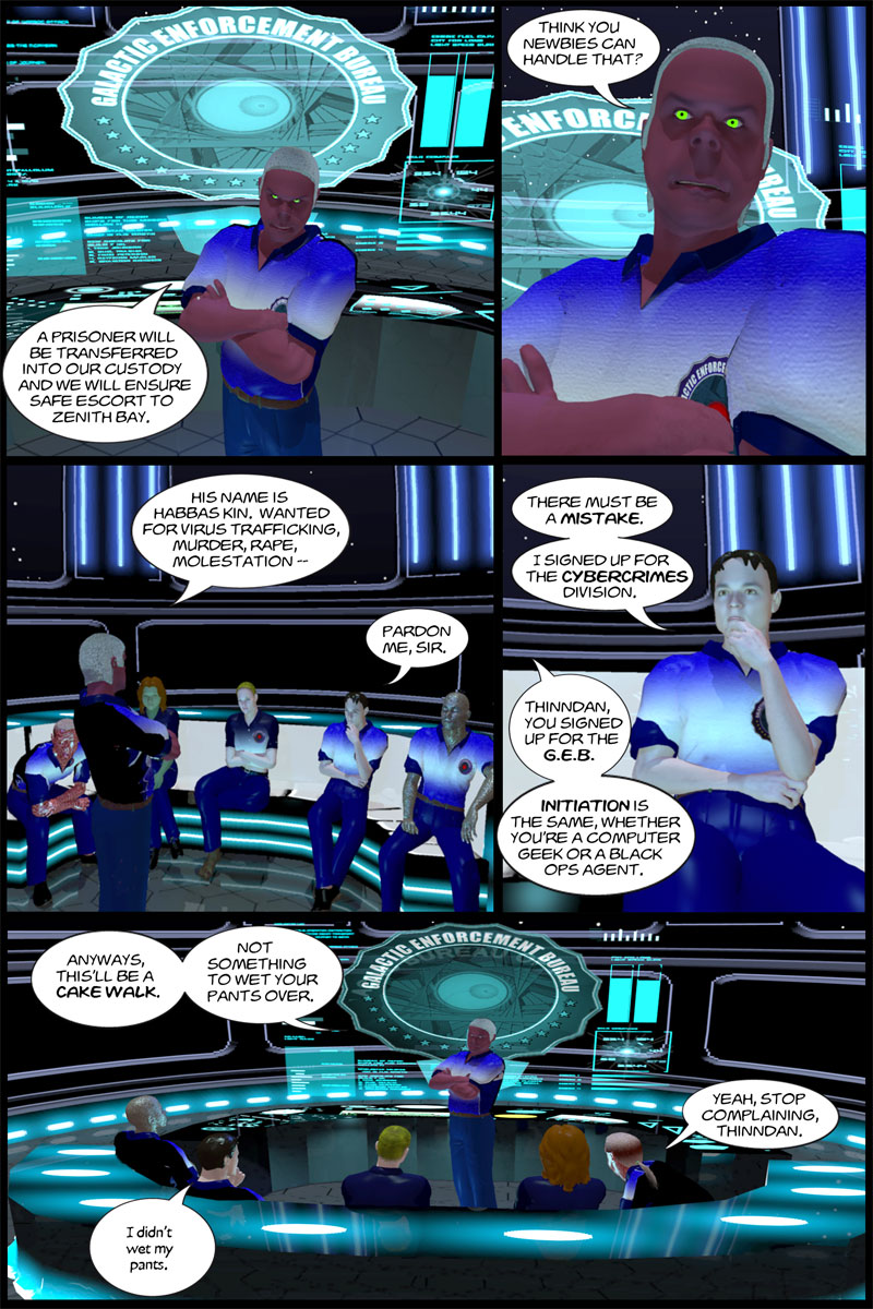 Chapter 1, page 18 – rookie mission: prisoner transfer