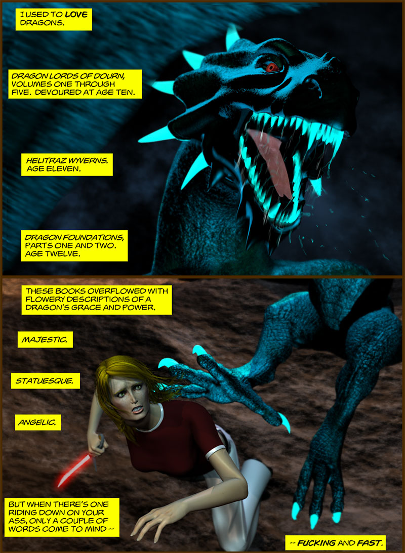 Chapter 4, page 1 – Dragons are f—ing fast