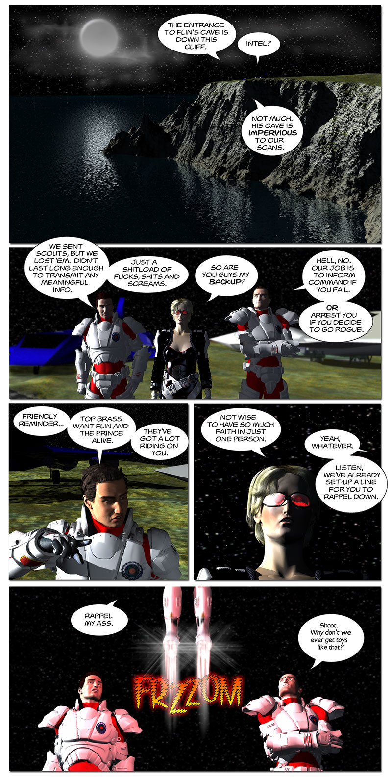 Chapter 5, page 1 – Tirin arrives at Flin's cave