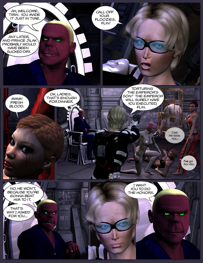 Chapter 5, page 12 – Flin invites Tirin to terminate him