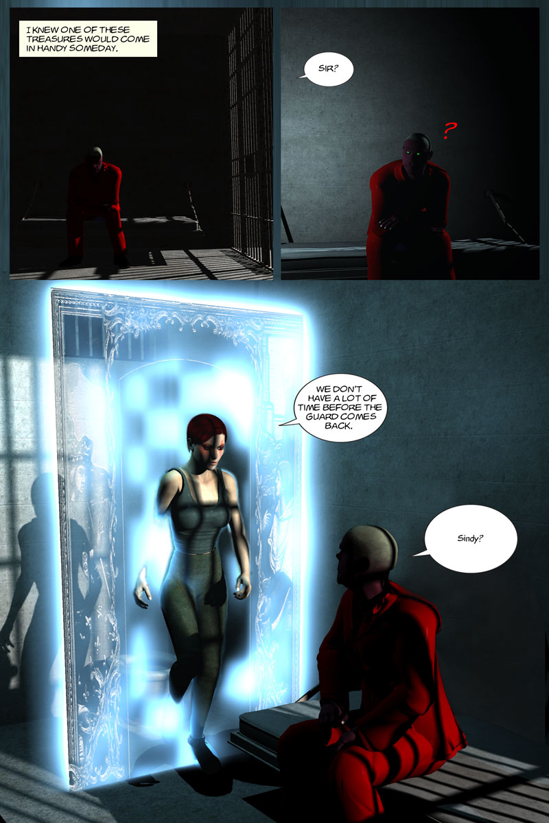 Chapter 5, page 22 – Flin gets a visitor in prison