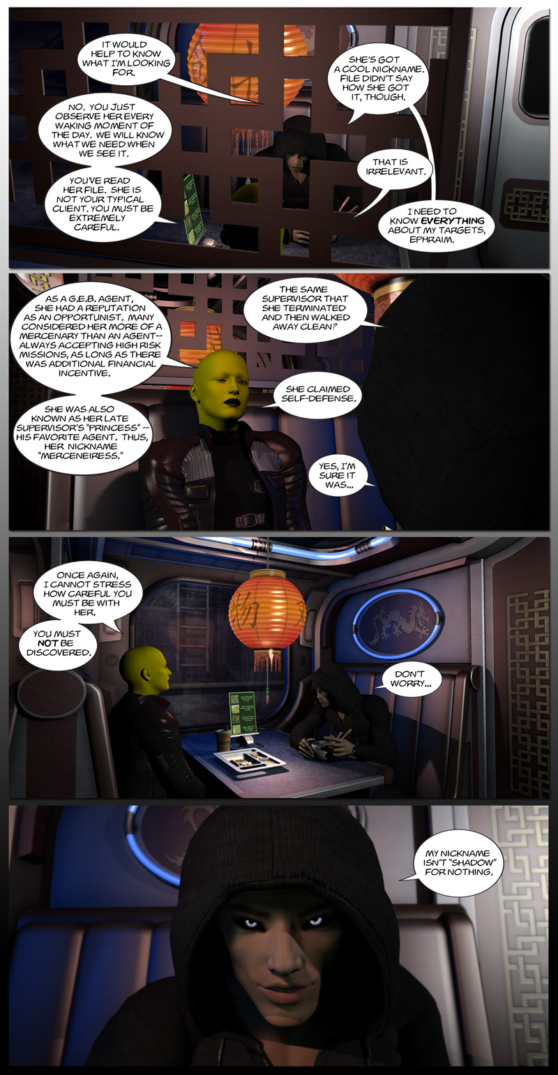 Chapter 6, page 1 – Ephraim hires someone to spy on Tirin (Shadow)