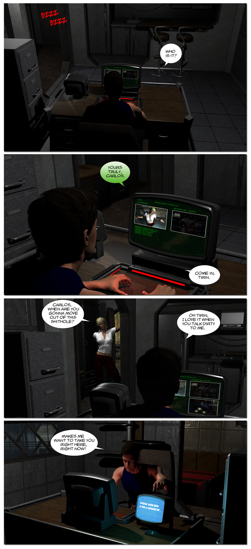 Chapter 6, page 18 – Tirin visits her friend with benefits, Carlos