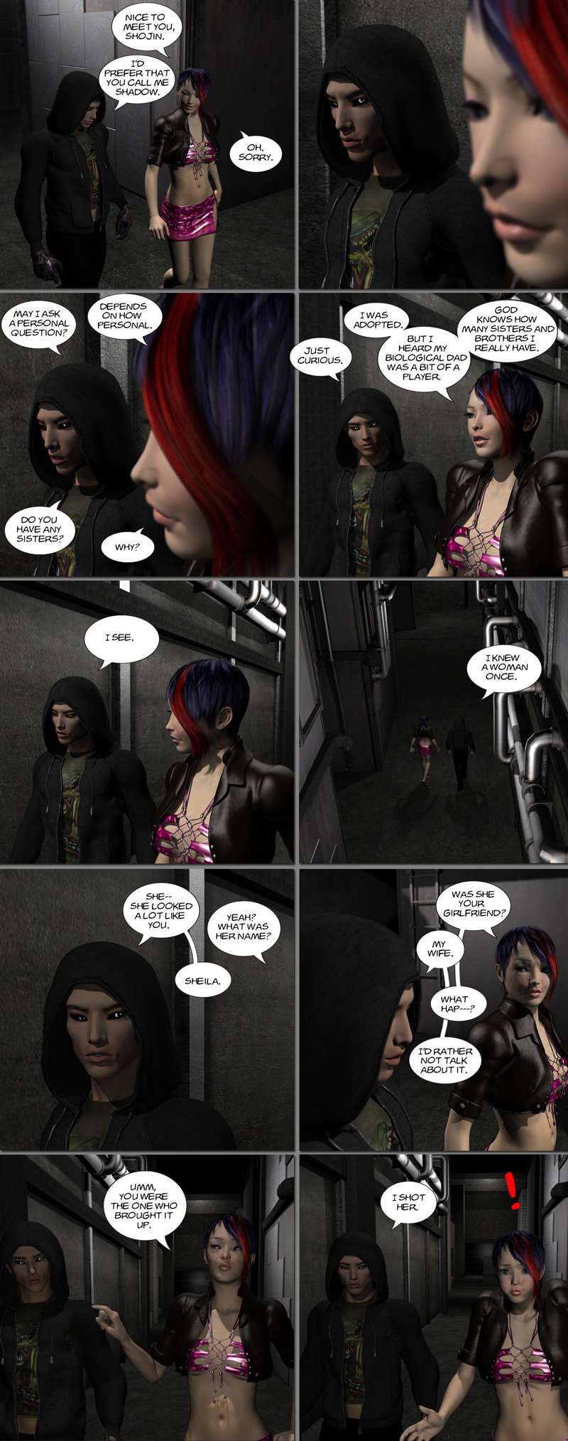 Chapter 8, page 6 – Shadow tells his story