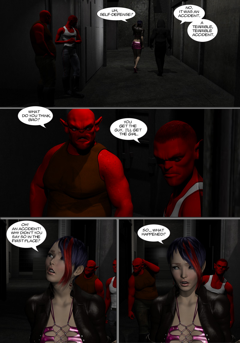 Chapter 8, page 7 – Robbers in the alley