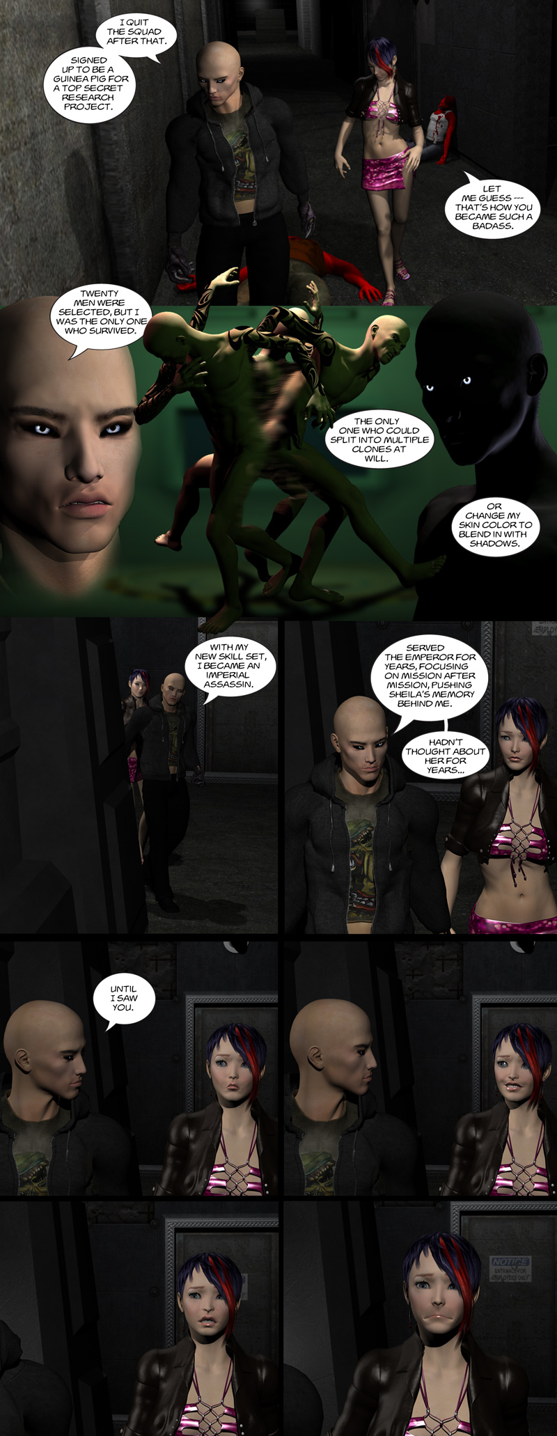 Chapter 8, page 10 – Shadow explains his splitting ability