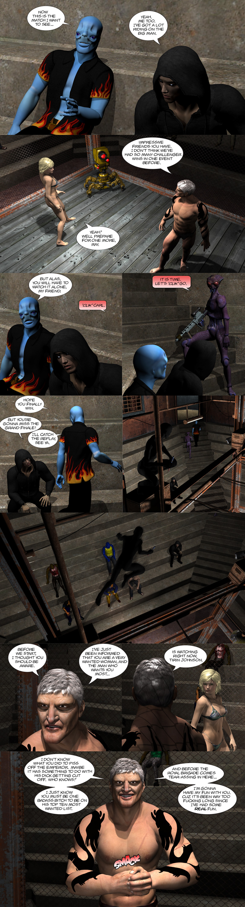 Chapter 9, page 10 – Ray vs Tirin begins