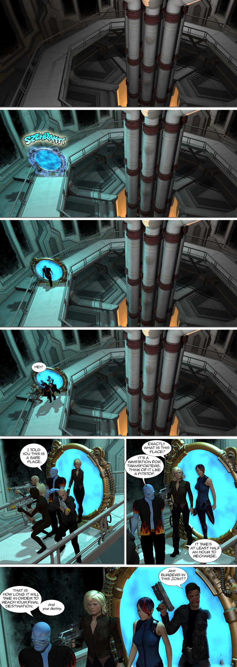 Chapter 9, page 23 – Teleportation Waystation