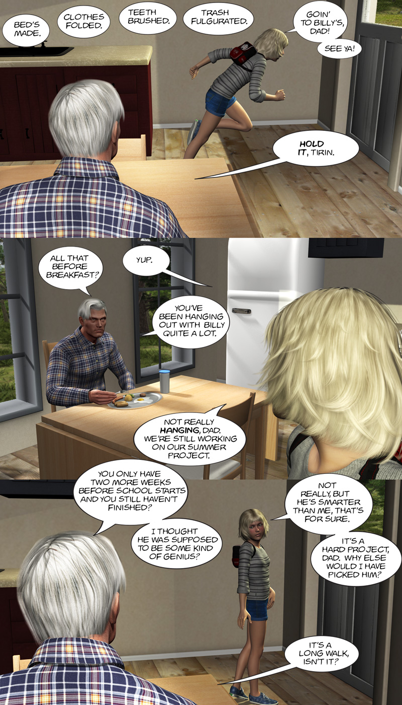Chapter 11, page 4 – Dad, I gotta go study with Billy