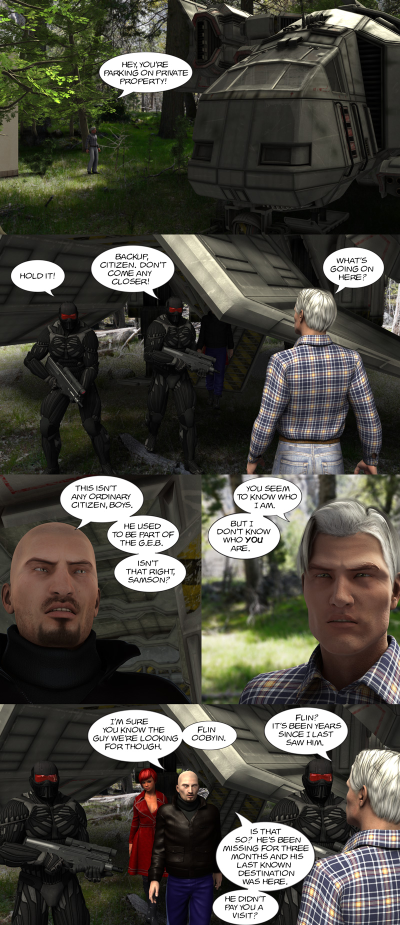 Chapter 11, page 14 – meet Agent Goran and Siresha