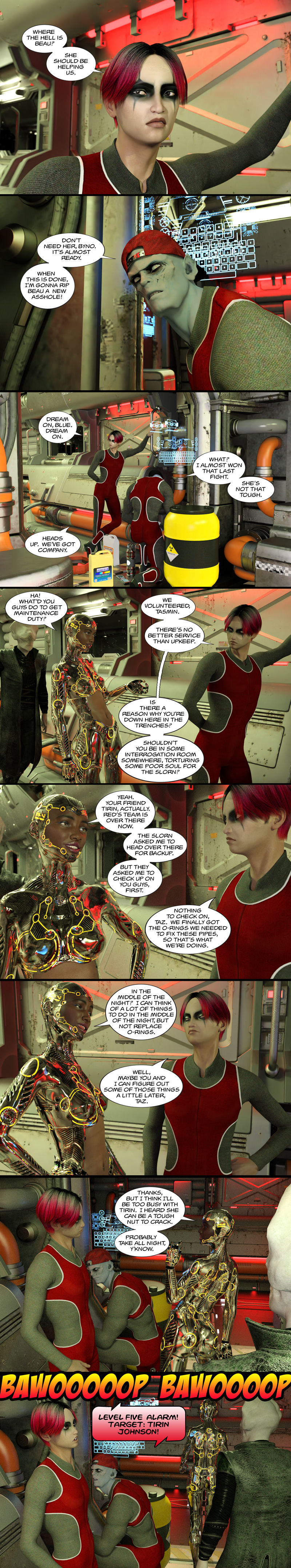 Chapter 13, page 30 – Byno and Blue move forward with Tirin's plan