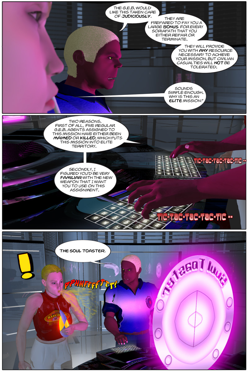 Chapter 2, page 11 – mission parameter: use your dad's secret weapon