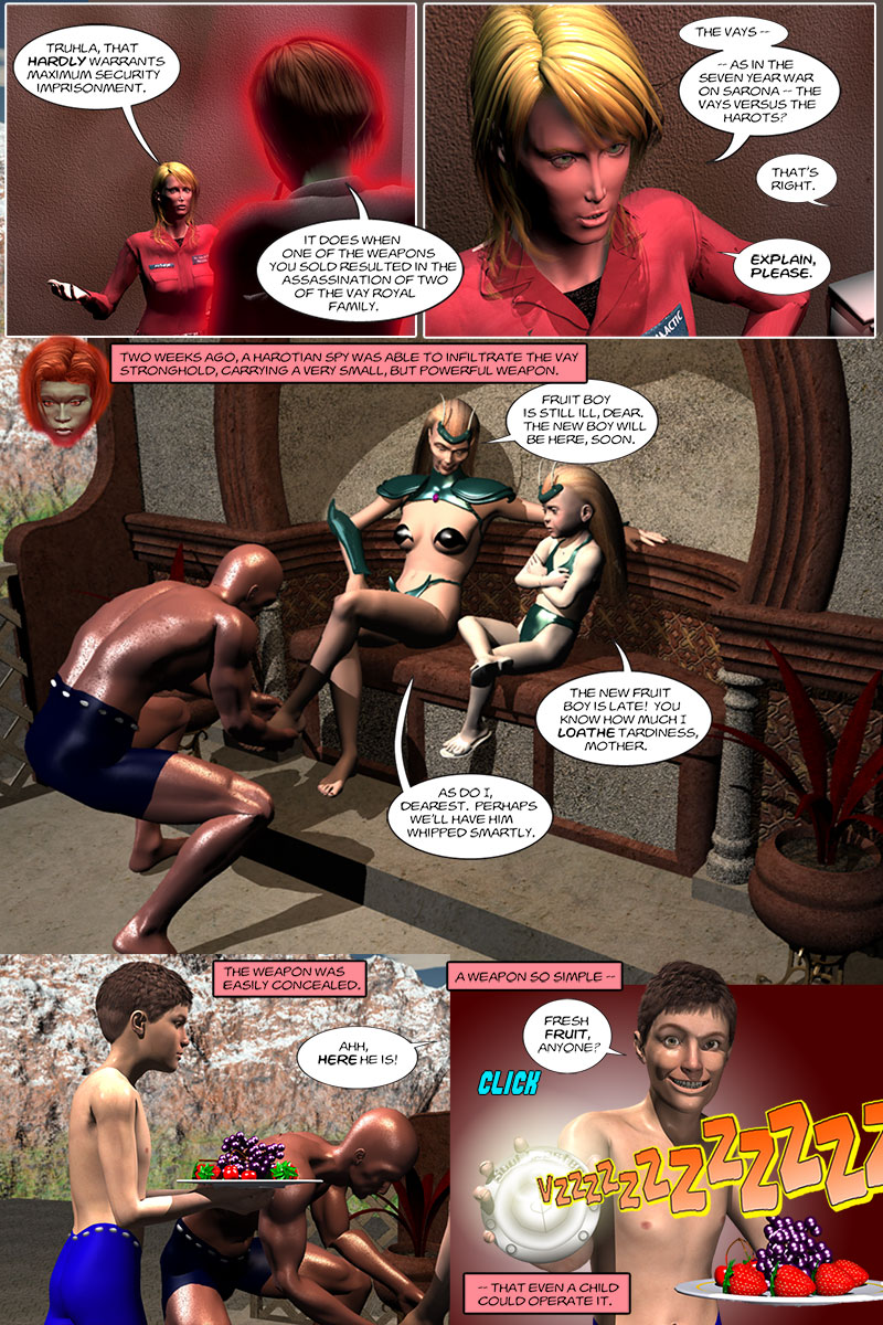 Chapter 3, page 4 – Tirin finds out she's been set up