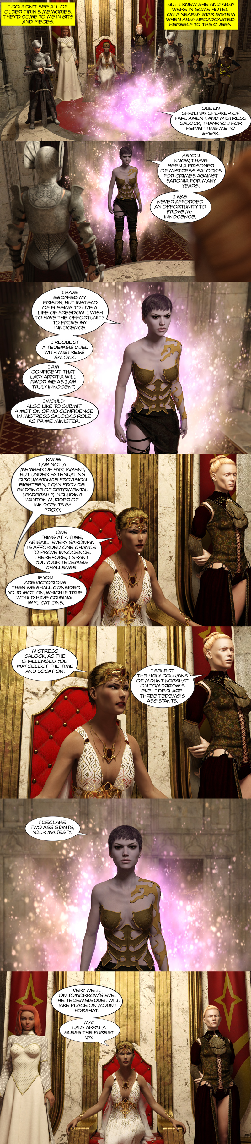 Chapter 16, page 15 – Abby requests Tedemsis Duel to prove her innocence