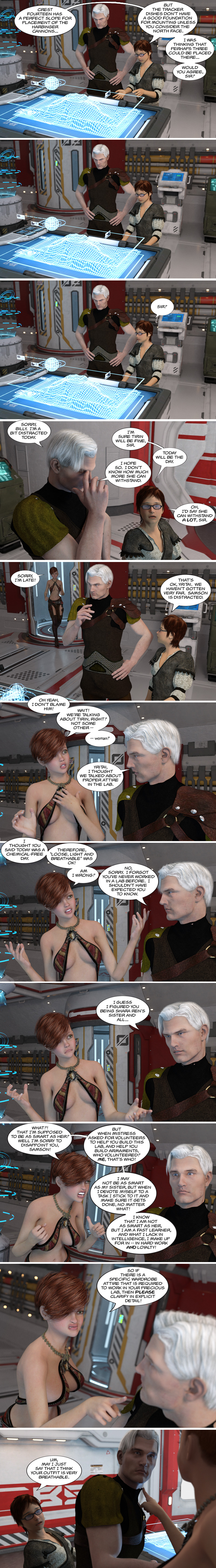 Chapter 15, page 2 – Samson advises Yritai on appropriate laboratory attire
