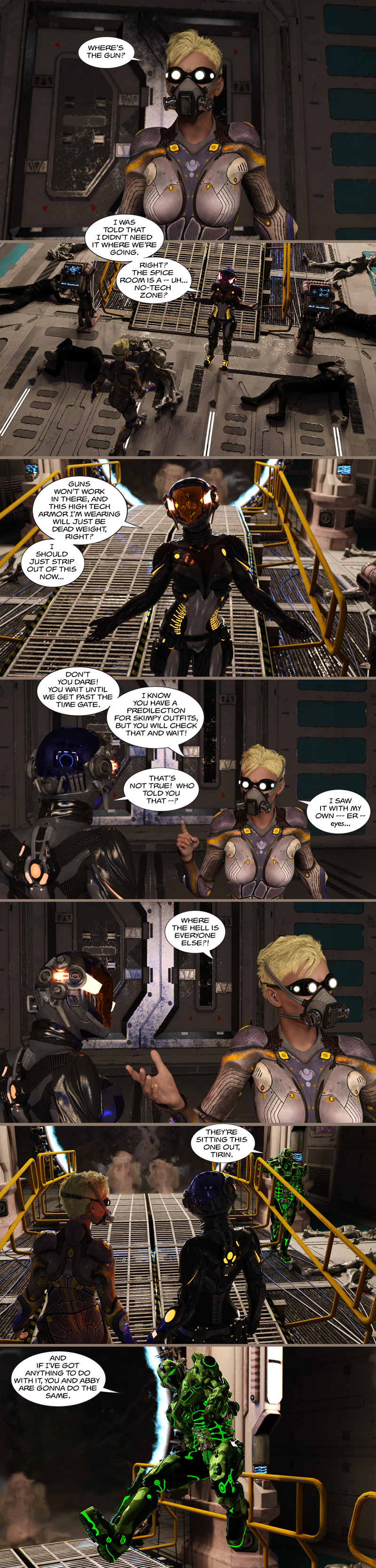 Chapter 14, page 3 – Beau: You're not going to destroy the spice, Tirin!