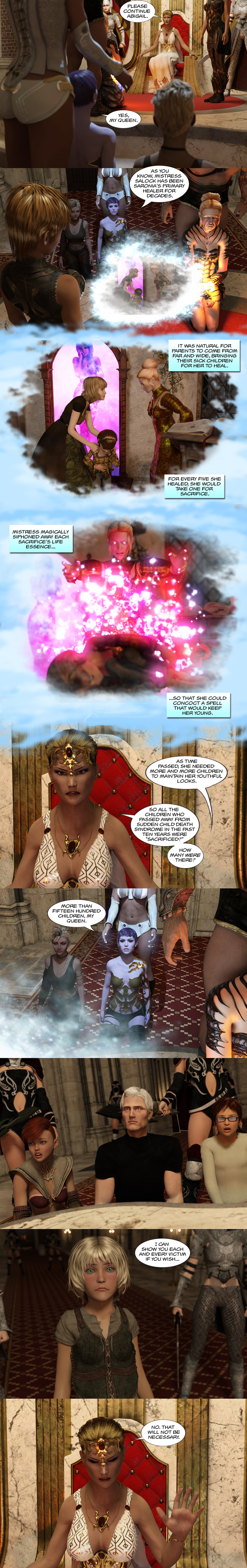 Chapter 16, page 37 – Mistress Salock's treachery revealed