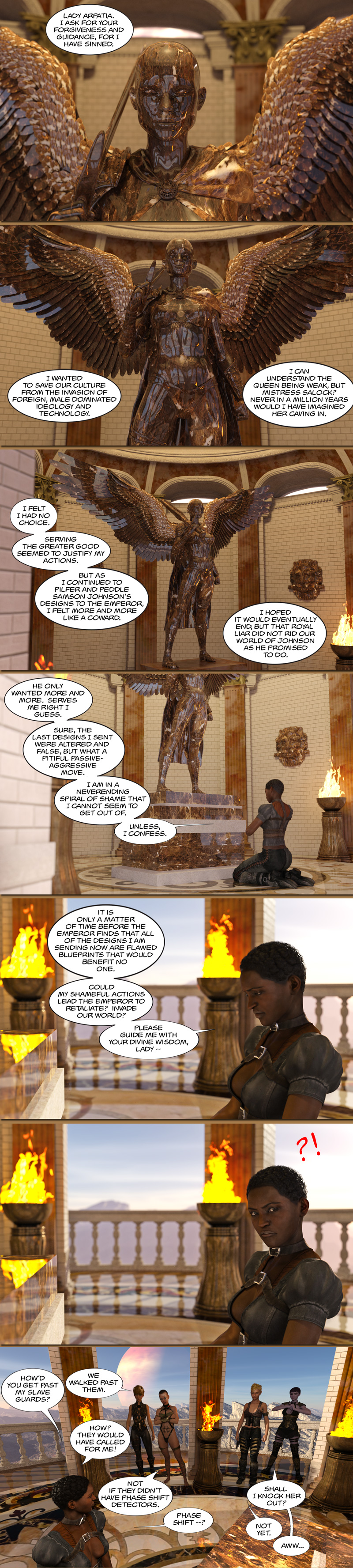 Chapter 15, page 16 – Recruiting Felina