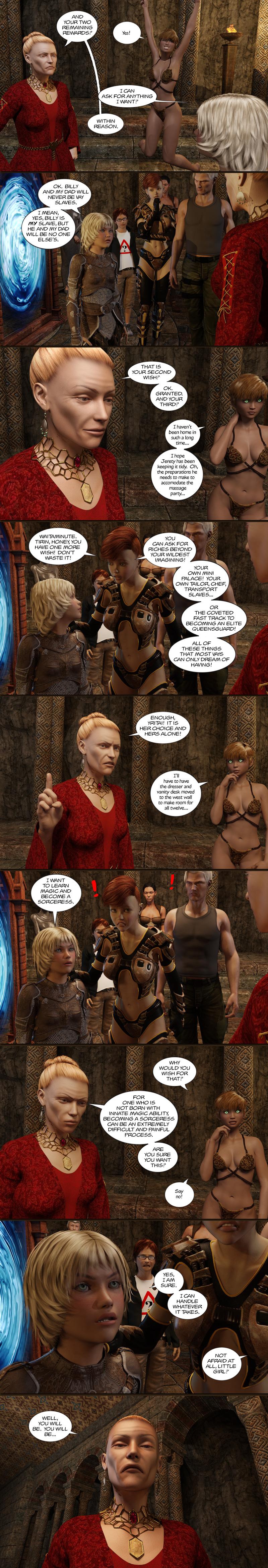 Chapter 14, page 22 – Tirin: I wanna learn magic