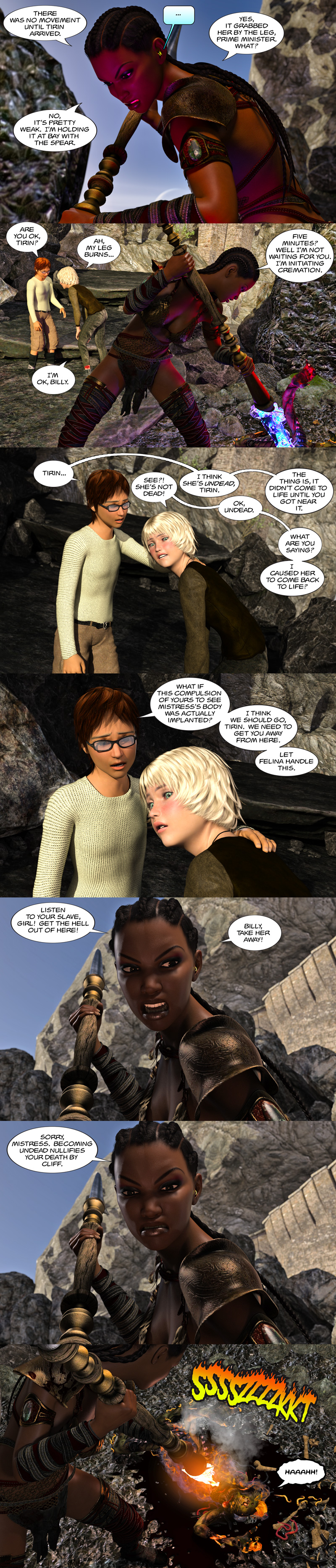Chapter 17, page 19 – Let the cremation begin