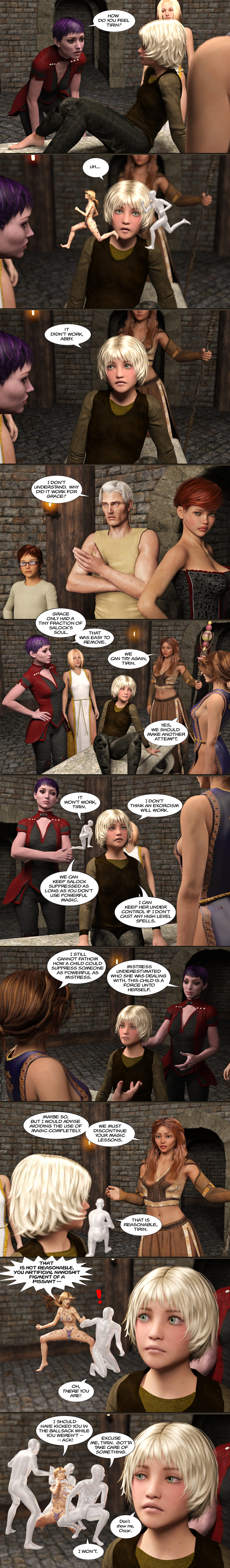 Chapter 17, page 34 – No more magic lessons, Tirin