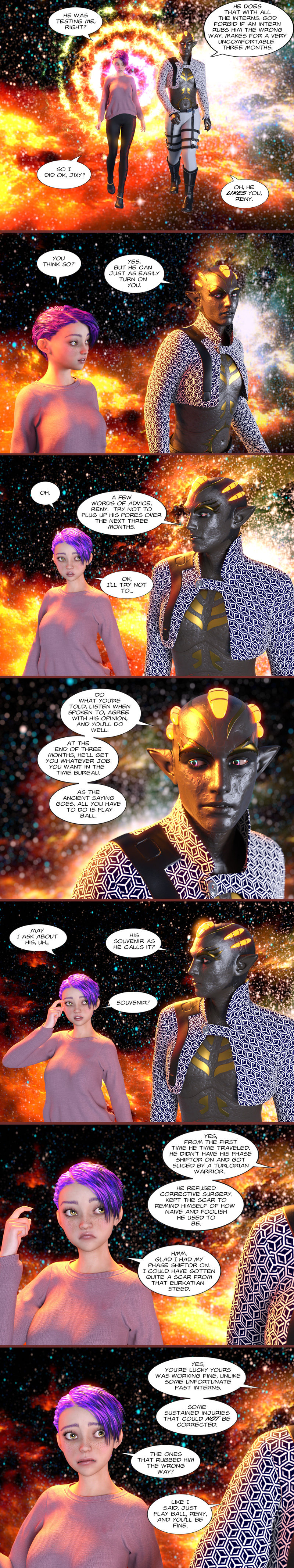 Chapter 19, page 11 – Oh he likes you, Reny