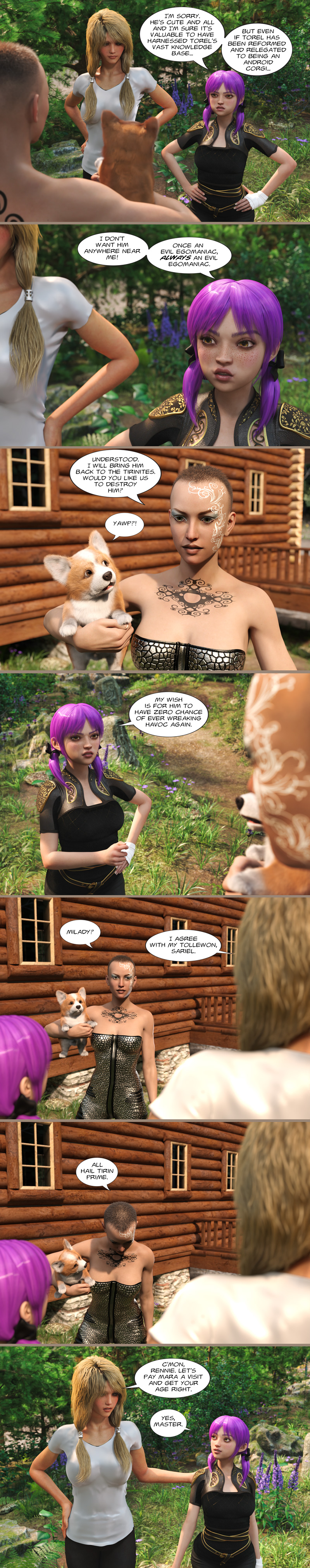 Chapter 19, page 27 – once an evil egomaniac…